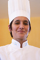 Sandra Roman chef and teacher at Escuela Aromos school and patissiere patisserie pastry cook Bodega Del Anelo Winery, also called Finca Roja, Anelo Region, Neuquen, Patagonia, Argentina, South America
