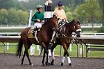 Gio Ponti in the post parade for the Arlington Million