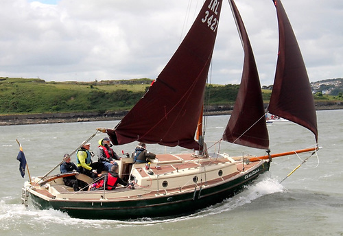 Cuna Mara is ashore in Crosshaven Co Cork.  She has been in the family for the last 20 years and is a very stable platform for family cruising.  A traditional look with the comfort of a modern boat.