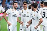 Real Madrid Nacho Fernandez, Marco Asensio and Fernando Alarcon 'Isco' during Santiago Bernabeu Trophy match at Santiago Bernabeu Stadium in Madrid, Spain. August 11, 2018. (ALTERPHOTOS/Borja B.Hojas)