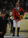 9 October 2010: Gold medalist Philippe Le Jeune at the awards ceremony for the Rolex Top Four Jumping Finals in the World Equestrian Games in Lexington, Kentucky