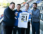 St Johnstone Players Sponsors Night…10.05.18<br />Stefan Scougall<br />Picture by Graeme Hart.<br />Copyright Perthshire Picture Agency<br />Tel: 01738 623350  Mobile: 07990 594431