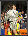 31/8/02       Collect Pic : James Stewart                     .File Name : stewart-falkirk v qots 14.DEREK ALLAN RECEIVES SOME SYMPATHY FROM ANDY GORAM AFTER HE SCORED AN OWN GOAL FOR FALKIRK'S SECOND GOAL....James Stewart Photo Agency, 19 Carronlea Drive, Falkirk. FK2 8DN      Vat Reg No. 607 6932 25.Office : +44 (0)1324 570906     .Mobile : + 44 (0)7721 416997.Fax     :  +44 (0)1324 570906.E-mail : jim@jspa.co.uk.If you require further information then contact Jim Stewart on any of the numbers above.........