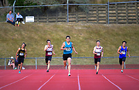 Hamish Gill (centre, 414) wins the elite men's 400m. 2021 Capital Classic athletics at Newtown Park in Wellington, New Zealand on Saturday, 20 February 2021. Photo: Dave Lintott / lintottphoto.co.nz