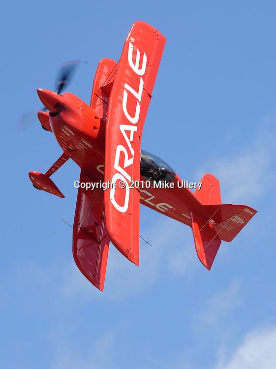 Sean D. Tucker works on his routine at Piqua Hartzell Airport.
