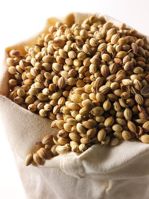 Whole coriander Seeds - stock photos