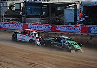 Dec. 11, 2011; Chandler, AZ, USA;  LOORRS pro lite driver Rodrigo Ampudia (36) and Casey Currie (2) during the Lucas Oil Challenge Cup at Firebird International Raceway. Mandatory Credit: Mark J. Rebilas-