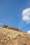 Basalt outcrop, Oregon, Eastern Oregon, John Day Fossil Beds National Monument, Painted Hills Unit, Wheeler County,