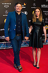 Miki Nadal and his wife Carolina Moreno Escamez during the red carpet of the opening ceremony of the Festival de Cine Fantastico de Sitges in Barcelona. October 07, Spain. 2016. (ALTERPHOTOS/BorjaB.Hojas)