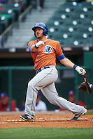 Durham Bulls first baseman J.P. Arencibia (16) at bat during a game against the Buffalo Bisons on June 13, 2016 at Coca-Cola Field in Buffalo, New York.  Durham defeated Buffalo 5-0.  (Mike Janes/Four Seam Images)