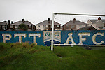Port Talbot Town 3 Caerau Ely 0, 06/02/2016. Genquip Stadium, Welsh Cup fourth round. An interior view of the ground before Port Talbot Town played host to Caerau Ely in a Welsh Cup fourth round tie at the Genquip Stadium, formerly known as Victoria Road. Formed by exiled Scots in 1901 as Port Talbot Athletic, they competed in local and regional football before being promoted to the League of Wales  in 2000 and changing their name to the current version a year later. Town won this tie 3-0 against their opponents from the Welsh League, one level below the welsh Premier League where Port Talbot competed, watched by a crowd of 113. Photo by Colin McPherson.