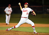 Lake Mary Rams pitcher Todd Peterson (34) during a game against the Lake Brantley Patriots on April 2, 2015 at Allen Tuttle Field in Lake Mary, Florida.  Lake Brantley defeated Lake Mary 10-5.  (Mike Janes Photography)