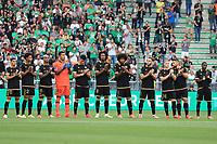 25th September 2021; Saint-Etienne Stade Geoffroy Guichard, France; AS Saint-Etienne versus OGC Nice; OGC Nice Team line up