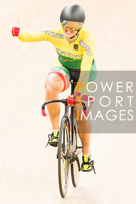 Simona Krupeckaite of the Lithuania team competes in the Women's Sprint - Quarterfinals as part of the 2017 UCI Track Cycling World Championships on 13 April 2017, in Hong Kong Velodrome, Hong Kong, China. Photo by Marcio Rodrigo Machado / Power Sport Images