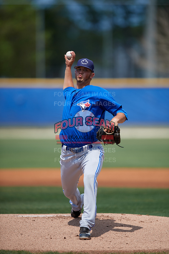 Toronto Blue Jays starting pitcher Mike Ellenbest (74) delivers a pitch during a minor league Spring Training game against the New York Yankees on March 30, 2017 at the Englebert Complex in Dunedin, Florida.  (Mike Janes/Four Seam Images)