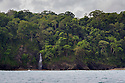 Coastline along Corcovado National Park, Osa Peninsula, Costa Rica, May.