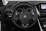 Car pictures of steering wheel view of a 2018 Mitsubishi Eclipse Cross Style 5 Door SUV