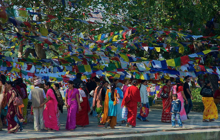Birth place of Buddha Lumbini, Nepal just across from the Border with India,  Pilgrims from all over the world of the Buddhist faith visit this place.