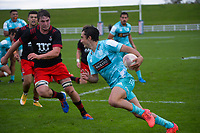 Chiefs' Kane O'Connor scores during the 2021 Bunnings Super Rugby Aotearoa Under-20 rugby match between the Chiefs and Crusaders at Owen Delaney Park in Taupo, New Zealand on Tuesday, 14 April 2021. Photo: Dave Lintott / lintottphoto.co.nz