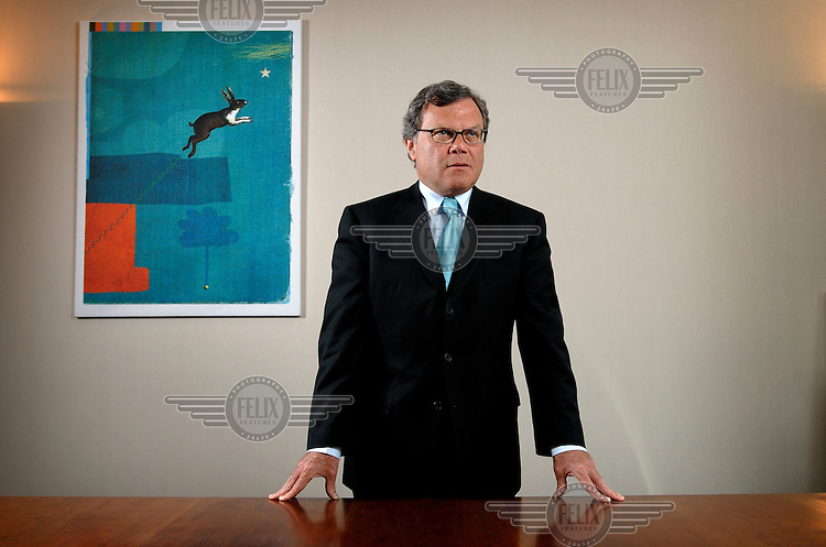 Martin Sorrell, chief executive of advertising giant, WPP Group in his offices in London.