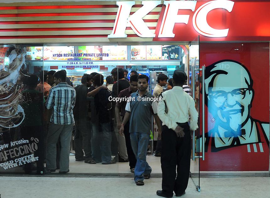 KFC (Kentucky Fried Chicken) fast food restaurant in Madras, India