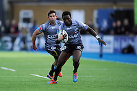 Lwazi Mvovo of Sharks in action during the Sanlam Private Investments Shield match between Saracens and the Cell C Sharks at Allianz Park on Saturday 25th January 2014 (Photo by Rob Munro)