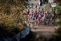 The race starts up the infamous Koppenberg<br /> <br /> Koppenbergcross 2020 (BEL)<br /> women's race<br /> <br /> ©kramon
