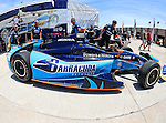 Indy cars and drivers in action during the IZOD Indycar Firestone 550 race at Texas Motor Speedway in Fort Worth,Texas.