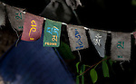 24 MAY 2015, McLeod Ganj, Himachal Pradesh, INDIA:  Prayer flags flutter in the forest outside the Dalai Lama temple in McLeod Ganj - the Indian home of the exiled Tibetan leader the Dalai Lama.   Picture by Graham Crouch/The Australian Magazine