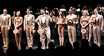"""Tony Yazbeck, Jenna Nicole Schoen, Anthony Wayne, Robyn Hurder, Jay Armstrong-Johnson and Cast during Curtain Call for the New York City Center Celebrates 75 Years with a Gala Performance of """"A Chorus Line"""" at the City Center on November 14, 2018 in New York City."""