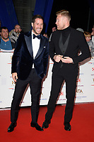 Jamie Redknap and Andrew Flintoff<br /> arriving for the National TV Awards 2019 at the O2 Arena, London<br /> <br /> ©Ash Knotek  D3473  22/01/2019