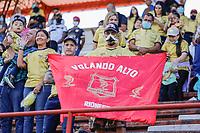 RIONEGRO - COLOMBIA, 25-09-2021: Aguilas Doradas Rionegro y Atlético Junior en partido por la fecha 11 como parte de la Liga BetPlay DIMAYOR II 2021 jugado en el estadio Alberto Grisales de la ciudad de Rionegro. / Aguilas Doradas Rionegro and Atlético Junior in match for the date 11 as part of the BetPlay DIMAYOR League II 2021 played at Alberto Grisales stadium in Rionegro. Photo: VizzorImage / Donaldo Zuluaga / Cont