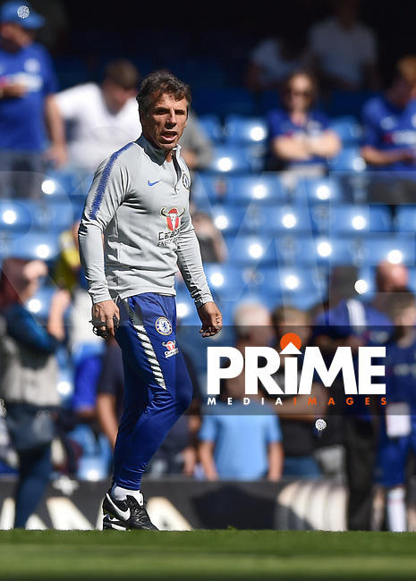 Chelsea assistant manager and former player Gianfranco Zola during the Premier League match between Chelsea and Bournemouth at Stamford Bridge, London, England on 1 September 2018. Photo by Vince  Mignott / PRiME Media Images.