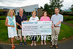 Michael Sutton presenting the sum of €8,360 to the Kerry Hospice Foundation on Tuesday.<br /> L to r: Majella and Mike Sutton, Mary Shanahan, Evelyn Doody and Jack Shanahan.