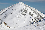 Mount Madison from along the Gulfside Trail (Appalachian Trail) in the New Hampshire White Mountains during the winter months. Mount Madison is named after the fourth U.S. President, James Madison.