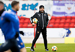St Johnstone Training...06.05.21<br />Manager Callum Davidson pictured during training at McDiarmid Park ahead of Sundays Scottish Cup semi-final against St Mirren.<br />Picture by Graeme Hart.<br />Copyright Perthshire Picture Agency<br />Tel: 01738 623350  Mobile: 07990 594431