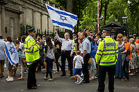 """20.07.2014 - """"Emergency Rally For Israel"""" - ZF Demo Outside Israeli Embassy & Counter demo"""