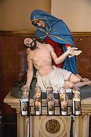 French Quarter, New Orleans, Louisiana.  Mary and Jesus, St. Mary's Catholic Church, Chartres Street.