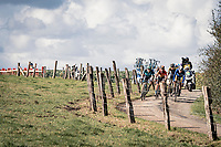 the breakaway group over the Plugstreets (with for once) including Mark Cavendish (GBR)(GBR/Bahrain-McLaren) who declared afterward that this might just have been his very last pro race ever...<br /> <br /> 82nd Gent-Wevelgem in Flanders Fields 2020 (1.UWT)<br /> 1 day race from Ieper to Wevelgem (232km)<br /> <br /> ©kramon