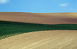 Farming with cultivated fields Eastern Washington State USA
