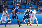 Kashima Antlers (in white) vs HKFC Captain's Select (in navy blue), during their Main Tournament match, part of the HKFC Citi Soccer Sevens 2017 on 27 May 2017 at the Hong Kong Football Club, Hong Kong, China. Photo by Chris Wong / Power Sport Images