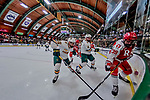 29 December 2018: University of Vermont Catamount Defenseman Corey Moriarty, a Junior from Estero, FL, works the corner during the first period against the Rensselaer Engineers at Gutterson Fieldhouse in Burlington, Vermont. The Catamounts rallied from a 2-0 deficit to defeat RPI 4-2 and win the annual Catamount Cup Tournament. Mandatory Credit: Ed Wolfstein Photo *** RAW (NEF) Image File Available ***