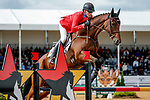 October 17, 2021: Doug Payne (USA), aboard Quantum Leap, competes during the Stadium Jumping Final at the 5* level during the Maryland Five-Star at the Fair Hill Special Event Zone in Fair Hill, Maryland on October 17, 2021. Jon Durr/Eclipse Sportswire/CSM
