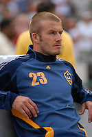 Los Angeles Galaxy midfielder David Beckham (23) before the game. DC United defeated the Los Angeles Galaxy 1-0, at RFK Stadium Washington DC, Thursday August 9, 2007.