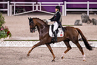 DEN-Cathrine Dufour rides Bohemian during the Dressage Grand Prix Team and Individual Qualifier Day 1 at the Equestrian Park. Tokyo 2020 Olympic Games. Saturday 24 July 2021. Copyright Photo: Libby Law Photography