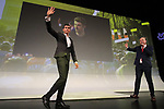 Warren Barguil (FRA) introduced on stage at the Tour de France 2020 route presentation held in the Palais des Congrès de Paris (Porte Maillot), Paris, France. 15th October 2019.<br /> Picture: Eoin Clarke | Cyclefile<br /> <br /> All photos usage must carry mandatory copyright credit (© Cyclefile | Eoin Clarke)