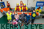 Ardfert NS launch the annual cycle fundraiser in aid of the Banna Sea Rescue at the Boat house in Banna on Monday.<br /> L to r: Ashley Baxter, Muireann Wiseman, Muireann and Éinín Lawlor, Cillian Foley, Oghan and Eamon Wiseman.<br /> In the boat l to r:Gordan Baxter, Betty Stack (Ardfert NS Principal) Granya Costello.