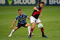27th December 2020; Arena de Gremio, Porto Alegre, Brazil; Brazilian Serie A, Gremio versus Atletico Goianiense; Darlan of Gremio is held off by Roberson of Atletico Goianiense