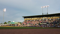 General view of a game between the Hagerstown Suns and Lexington Legends on May 22, 2015 at Whitaker Bank Ballpark in Lexington, Kentucky.  Lexington defeated Hagerstown 5-1.  (Mike Janes/Four Seam Images)