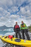 Bear Glacier Lagoon, Kenai Fjords National Park, Kenai Peninsula, Alaska.